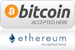 Bitcoin Etherium Accepted